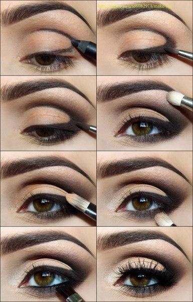 آموزش تصویری آرایش چشم مدل 2014