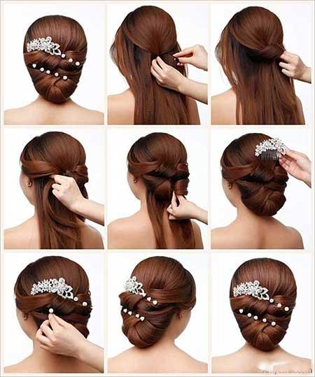 آموزش مدل مو ساده مناسب نامزدی و عروسی