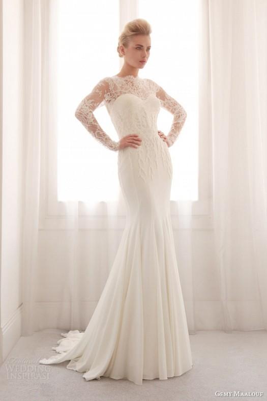 مدل لباس عروس پاییزی