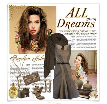 ست کردن لباس به سبک آنجلینا جولی برای پاییز 2014