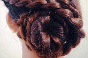آموزش تصویری مدل موی جمع با بافت یکطرفه